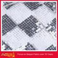 Malha bordado de lantejoulas tecido 100% poliéster moda molduras decorativas árabe