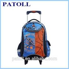 Basketball stylish school backpack on wheel