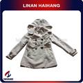 china venda quente infantil de alta qualidade dupla breasted casaco com capuz baby roupas batismo fabricante