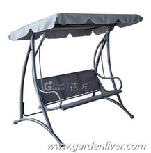 Patio hanging swing for sale patio steel modern garden 3 seat swing bed