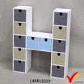 H forma muchos Mini cajones de madera antigua miniatura muebles artesanales
