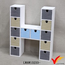 H Shape Many Mini Drawers Antique Wood Miniature Furniture Crafts