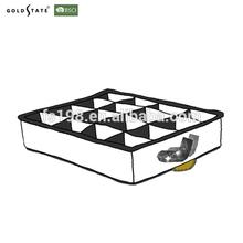 Black- white folding polyester socks storage box container