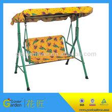 canvas iron swing chair steel modern garden 2 seater swing seat