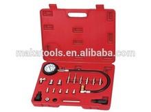 19pcs Cylinder Pressure Meter Diesel Truck Engine Car Compression Kit