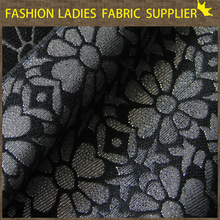 E 2015 fashion ladies dress fabric Hot sale free sample 100% polyester jacquard fabric for curtains