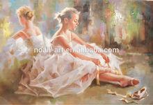 Impressionist Ballet Dancer Oil Paintings