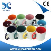 11oz Sublimation Inner & Handle Color Coated Mug/printing machine