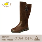2014 Best quality over the knee genuine leather boots for kids