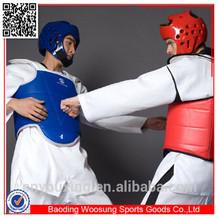 Body protector for taekwondo reversible red+blue taekwondo chest guard