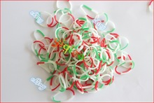 POPULAR 600pcs 4tones 3 colors tie dye loom bands for diy bracelet knitting and other ornament.