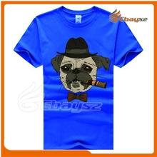 100% Polyester custom basic brand t-shirt