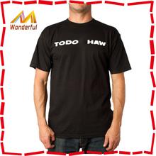 Hottest mens plain black t shirts made of 100% cotton for men
