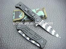 OEM BLACK EDITION TIGER BLADE 47 POWER KNIFE FOLDING KNIFE RESCUE KNIFE UD48225
