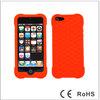 2014 honeycomb silicone case for iphone 5 orange-698