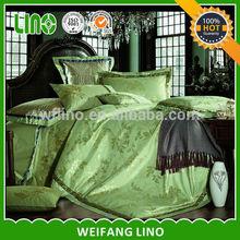wholesale jacquard satin comfoter set/silk feeling bedsheet/wholesale pillowcase