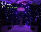 Black or white fireproof Velvet cloth led star backdrop club dmx stage lighting