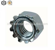 Kep nut Carbon steel Blue white zinc
