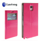 Front Case Cover for Note 3 With View Window Smart PU Leather Material