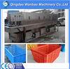 plastic basket hot water cleaning machine /chicken turnover cages washing machine