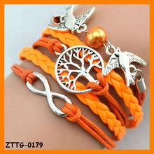 2014 Hot Selling Foever Infinitely Bird and Tree Layer Bracelet Wholesale ZTTG-0179