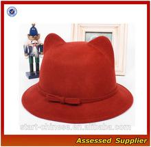 ZDC003 Promotional Cute Cat ears wool hat wholesale