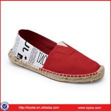 2014 new popular women canvas jute sole shoes