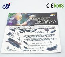 Eco-friendly big temporary tattoo sticker/ henna tattoo kits/ temporary rose tattoos