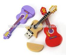 USB Flash Drive Guitar PVC 8GB Novelty Cute Baby Owl USB 2.0 Flash Drive Data Memory Stick Device,Genuine 2gb/4gb guitar USB