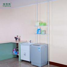 Multifunction adjustable bathroom powder steel pipe towel rack storage shelf C-64