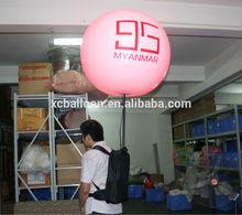 China wholesale mobile advertising custom imprint backpack lighting sphere