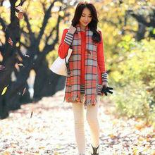 fashion lady winter cashmere scarf /lady scarf shawl /stripe lady scarf