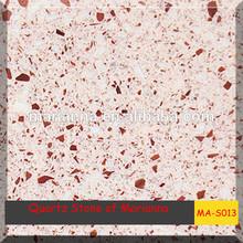 House design Rose Quartz counter top,Crystal Quartz slab For MA-S013 hot building materials product