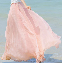 Z82118A 2014 korean summer fashion pretty chiffon lady skirts