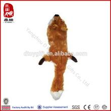 China factory soft pet toys wholesale plush fox animal toy stuffingless dog toy