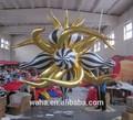2014 colorido inflável estrela decorações bola/balão inflável com espinho, casamento decoração estrelas