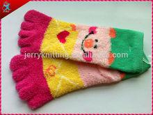 custom Design five toe feather sock girl tube sock