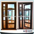 insonorizadas balcón de la puerta de la parrilla doble con diseños de panel