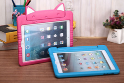 NEW CUTE tablet cases for kids,Cat lovely smile cases cover for ipad