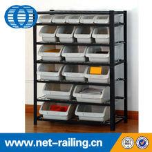 Medium duty storage folding metal shelves for warehouses