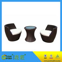 Cheap bistro 3pc set wicker furniture outdoor garden rattan abaca sofas
