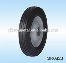 8''x1.75'' semi-pneumatic tire centered rim