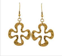 2014 Summer Hot Sale i n Western Country Alloy Dangle Cross Gold Hook Earring