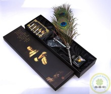 Office noble feather pen set supply/New fashion feather pen set/Custom classic feather pen set