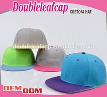 Wholesale basketball snap back hats/blank corduroy flat brim snapback cap/custom snapback cap