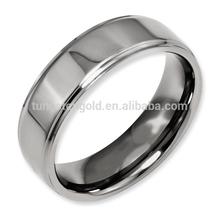 Men Jewelry Wedding Ring, 8mm High polished Skin-friendly Titanium Ring TI016R