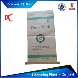food grade white brown paper bag for wheat flour/ potato starch