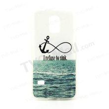 For Samsung Galaxy S5 mini G800 Glossy IMD Soft TPU Gel Cover - I Refuse to Sink