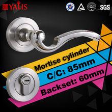 Single open in european 85mm center distance fit office main door lock with handle