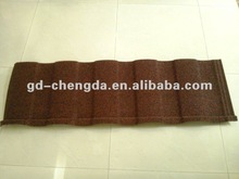 roman red color stone coated metal steel roofing tile